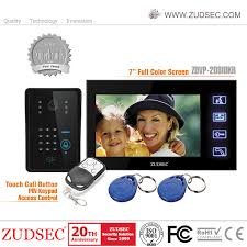 China <b>Wired</b> Handset <b>7 Inch</b> Video Doorbell with <b>RFID</b> Card ...