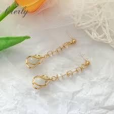 style <b>2019 new Korean</b> personality Baitao <b>Earrings</b> pure silver ...