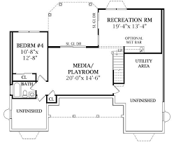Cottage House Plan   Bedrooms and   Baths   Plan Walk out Basement Plan