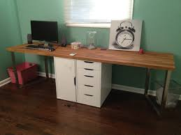 famous teak diy office desk in brown color with white drawers design idea home amazing ikea home office furniture design shocking