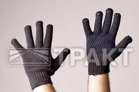 <b>Перчатки трикотажные утепленные</b> двойные с ПВХ ...