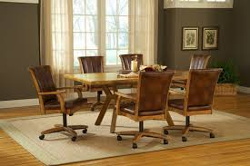 dining table with wheels: gallery  images of fascinating design of dining room chairs with casters showing modern design
