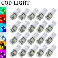 <b>20pcs</b>/<b>Lot T10</b> W5W LED Bulbs 5050 <b>5 SMD</b> 194 168 Xenon White ...