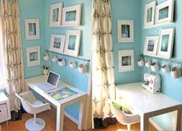 inspiration calming blue walls in home office apartment therapy unplggd apartment home office