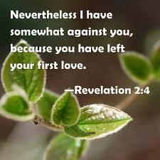 Image result for Revelation 2:4