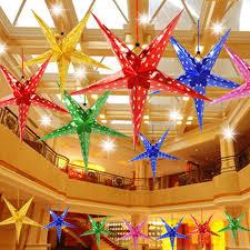 Xmas String <b>Hanging Star</b> Party Decor <b>Christmas Tree</b> Ornament ...