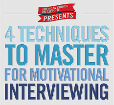 techniques to master for motivational interviewing