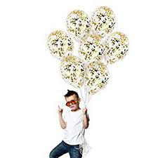 Treasures Gifted Gold Glitter Star Confetti Balloons ... - Amazon.com