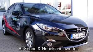 Black Mazda 3 Mazda 3 Sports Line 103286 Jet Black 2014 Navi Xenon Quotautohaus