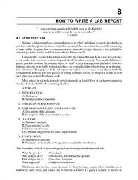 Biology Lab Report Template  formal report format template format
