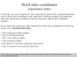 hotel sales and marketing cover letter sample hotel sales how to write the college application essay sales coordinator cover letter