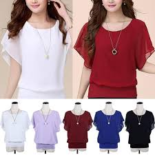 <b>Модные женщины</b> топы Batwing шифон блузки рубашки <b>летом</b> ...