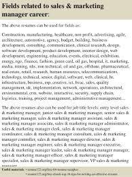 Top   sales  amp  marketing manager resume samples         Fields related to sales  amp  marketing manager