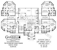 stonecliff quad cabins plan 07449, 1st floor plan, mountain Southern House Plans One Story stonecliff quad cabins plan 07449, 1st floor plan, mountain style cabins house plans one story house plans southern living