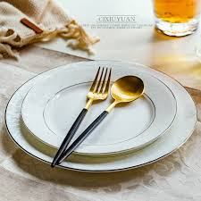 <b>2pcs</b> set, 8inch + 10inch, real <b>bone</b> china dinner <b>plates</b>, ceramic ...