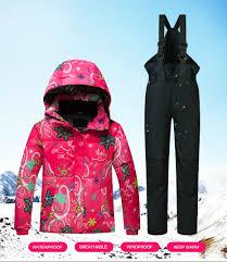 <b>Kids Ski Suit Children</b> Brands Windproof Waterproof Warm Girls And ...