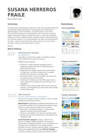 marketing web designer resume samples web design resume example