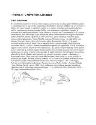 Flora d'Italia - Chiave della Famiglia delle Labiateae by Claudio Fior ...