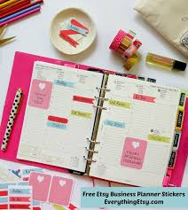 free etsy business planner stickers printable on everythingetsycom bussiness planner