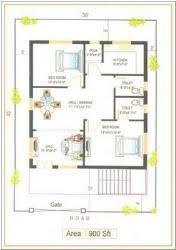 square feet x ft site east facing duplex house plans     sq ft square feet x ft site east facing duplex house plans