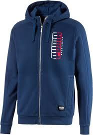 <b>Толстовка</b> мужская Puma Athletics <b>Hooded</b> Jacket TR, цвет: <b>темно</b> ...