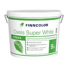 <b>Краска</b> в/<b>д</b> для <b>потолка Finncolor</b> Oasis Super White (9 л) купить в ...