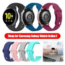 Замена для Samsung Galaxy Watch Active 2 42mm <b>Силиконовая</b> ...