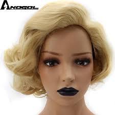 <b>Anogol High</b> Temperature Fiber Short Body Wave Gold Blonde Bob ...