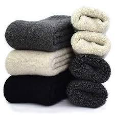 YZKKE 3Pack <b>Mens Super Thick</b> Wool Warm Socks - Soft Comfort ...