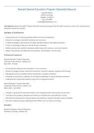 sample special education program specialist resume resame sample special education program specialist resume