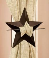 metal star wall decor: star set of  curtain tie backs