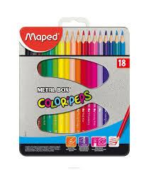 "<b>Карандаши цветные</b> Maped ""Color' Peps"", в <b>металлическом</b> ..."