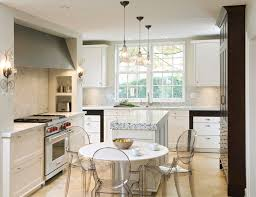 beaux arts kitchen transitional kitchen idea in ottawa with recessed panel cabinets white cabinets white backsplash spacious eat kitchen