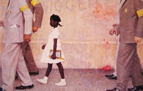 their eyes were watching god an ecow ist ruling on kyriarchy a painting by norman rockwell recording the deconstruction of segregation