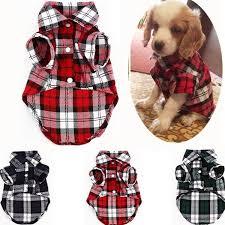 3 Colors <b>Fashion Pet Puppy</b> Dog Plaid Shirt Coats Dogs Cotton ...