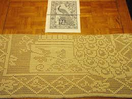 rectangular dining table cover cloth knitted vintage: how to filet crochet filet table cloth how to filet crochet