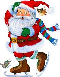 <b>Transparent</b> Santa with Skates Clipart | <b>Christmas</b> | <b>Santa claus</b> ...