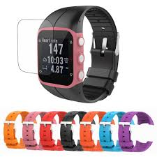 Replacement <b>Silicone Watchband</b> + <b>Screen</b> Protector Shield Film ...