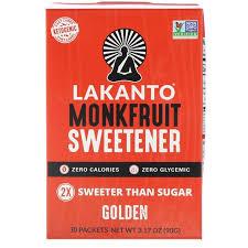Lakanto, <b>Monkfruit Sweetener</b>, <b>Golden</b>, <b>30</b> Packets | Товары для ...