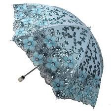 <b>New Women Lady</b> Embroidery Lace Sequin Flower Umbrella <b>Anti</b> ...