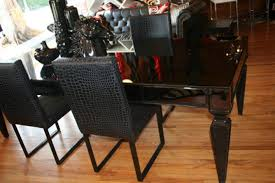dining room table mirror top: st tropez black mirrorred dining table