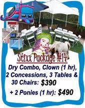 Dry <b>Combos</b> | CinnamonStixx Party Rentals Miami - Bounce House ...
