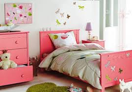 beautiful children room design with pink wooden single bed frame be equipped white fabric bedding set bedroom furniture set kids 3