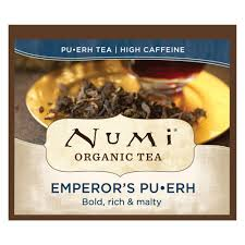 Numi <b>Organic Tea</b> Emperor's <b>Pu</b>-<b>erh</b>, 100 Count (Pack of 1) Box of ...