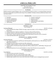 impactful professional food  amp  restaurant resume examples    assistant manager