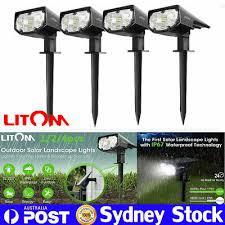 <b>Litom 4 Pack</b> 12LED Solar LED Landscape Lamps Outdoor Garden ...
