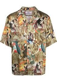 Martine Rose graphic <b>print short sleeved</b> shirt <b>man</b> multicolor ...
