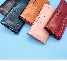 Fashion <b>Luxury</b> Women's Cow <b>Leather</b> Phone <b>Wallet</b> Retro ...