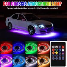 Multicolor Waterproof <b>Car</b> Bottom <b>Atmosphere</b> Lamp <b>Car</b> Decoration ...