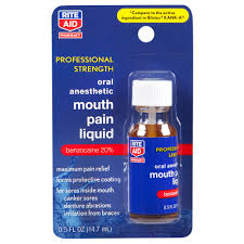 rite aid oral care anesthetic mouth pain liquid professional rite aid oral care anesthetic mouth pain liquid professional strength 0 5 fl oz 1 count